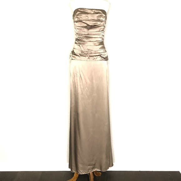Nicole Miller Dresses & Skirts - Nicole Miller Gray Strapless Gown Prom Dress H0679
